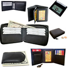 Внешний вид - Mens Bifold Trifold Leather Black Wallet Card Case ID Holder Pocket Money Clip