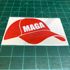 Red Baseball Cap MAGA Trump Patriotic USA Second Amendment Decal Sticker