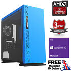 Ultra Fast Amd Quad Core Radeon Hd R7 Usb3 Ddr4 Home Gaming Pc Computer E Blue