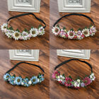 Women Fairy Wedding Flower Headband Crown Hair Wreath Hairband Elastic Garland