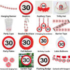 30TH BIRTHDAY TRAFFIC SIGNS THEME - COMPLETE PARTYWARE SELECTION