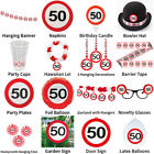 50TH BIRTHDAY TRAFFIC SIGNS THEME - COMPLETE PARTYWARE SELECTION