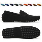 NEW Mens Casual Driving Loafers Suede Leather Moccasins Slip On Penny Shoes