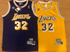 Magic Johnson #32 Vintage Throwback Los Angeles Lakers PRPLE/YLLW Men's Jersey