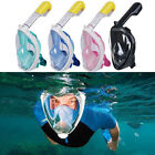 Swimming Diving Breath Full Face Snorkel Scuba Anti-Fog Mask Surface for GoPro