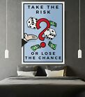 """Motiv-Art """"Take the risk or loose the chance - Monopoly Wall Art"""" Monopoly Wall"""