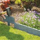 1/5/10 Pcs Garden Fence Simulated Stone Plastic Lawn Foldable Edging Palisade