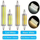 Dimmable LED 8/12W R7S Flood Light Corn Bulb Replace Halogen 78MM 118MM COB Lamp