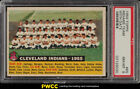 1956 Topps SETBREAK Indians Team WITH DATE, WHITE BACK #85 PSA 8 NM-MT (PWCC)