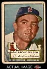 1952 Topps #327 Archie Wilson Red Sox FAIR
