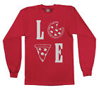 Love Pizza Youth Long Sleeve T-Shirt Pizza Pie Lover Fun Gift Idea