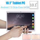 """10.1"""" 64G Tablet PC Android 7.0 Octa Core 2Ghz 10 Inch WIFI 2SIM 4G Phablet"""