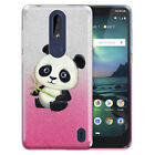 """For Nokia 3.1 Plus 2019 6"""" Cricket Version Two Tone Glitter Bling TPU Cover Case"""