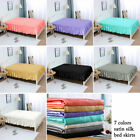 Bed Skirt Satin Silk Wrap Around Dust Ruffle 14/18 Inch Drop Elastic Bedding Bed image