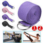1/2x 180CM Sport Yoga Stretch Strap D-Ring Belt Gym Waist Leg Fitness Adjustable