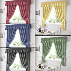Gingham Check Kitchen Tape Top Curtains Red Blue Black Yellow Green