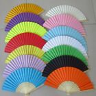 1pc Chinese Hand Fan Bamboo Silk Folding Paper Fan Wedding Party Home Decor Gift