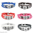 1PC DIY Snap Button Multilayer Leather Bracelet Diy Button Jewelry GIFT