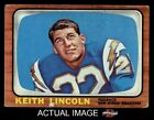 1966 Topps #127 Keith Lincoln Chargers VG $4.5 USD on eBay