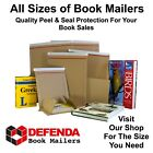Peel and Seal Book Mailers Postal Postage Boxes Wraps Mailing DVD Blu Ray CD's