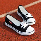 Women Canvas Flat Shoes Slip On Loafers Boat Leisure Breathable Sneakers Canvas