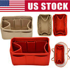 Multi-Pocket Insert Bag Felt Fabric Purse Handbag Bag Liner Tote Organizer M/L image