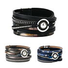 Men women Retro multi-layer pearl leather magnetic buckle bracelet GIFT