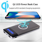 2019 NEW Qi Wireless Charger Power Bank Case LED LCD Light External Battery Pack