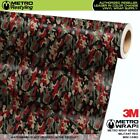 MINI MILITANT RED Camouflage Vinyl Vehicle Car Wrap Camo Film Sheet Roll