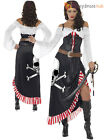 Ladies Sultry Swashbuckler Costume Adults Pirate Fancy Dress Womens Sexy Outfit
