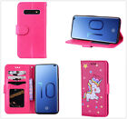 Multi-function Rose Unicorn Flip Card Slot Wallet Leather Phone Case Cover Skin