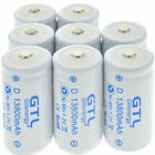 GTL Ni-MH C D Size C D Cell Rechargeable Batteries High Capacity 12800/13800 mAh