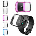 TPU Silicone Shell Case Watch Screen Protector Frame Cover For Fitbit Versa Lite