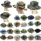 Women Boonie Wide Brim Bucket Hat Men Camo Army Military Fishing Sun Cap Outdoor