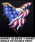 PATRIOTIC AMERICAN PRIDE BALD EAGLE FLAG ARMED FORCES AND BIKER T-SHIRT WS40