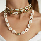 3 Different Design Jewelry Set Gold Color Cowrie Bracelet Shell Necklace