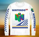 New Nintendo 64 Checkered NES Classic Mens Vintage Long Sleeve T-Shirt  image