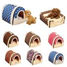 Pet Dog Cat Soft Plush Bed House Kennel Cave Kitty Doggy Warm Cushion Basket SML