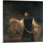 Aristotle with a Bust of Homer 1653 Canvas Art Print by Rembrandt van Rijn