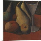 ARTCANVAS Still Life with Fruit and Glass 1908 Canvas Art Print by Pablo Picasso