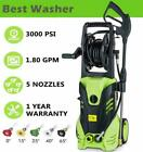 3500PSI Pressure Electric High Pressure Washer 1800W Motor Jet Sprayer 1.8GPM