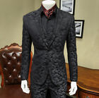Black Camouflage Men's Slim 3 Pieces Suits Formal Party Tuxedos Tailored Fit NEW