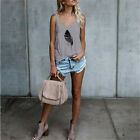 Women Sleeveless Blouse T Shirt Ladies Summer Loose Hoiday Casual Vest Tank Tops