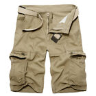 Mens Tactical Military Combat Cargo Shorts Pants Work Casual Army Half Trousers