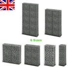 Gabion Stone Basket Retaining Wall Garden wire cage with Lid Galvanized 6 Sizes