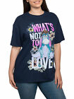 Women's Plus Size Eeyore T-Shirt - Love Navy Blue