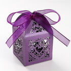 Candy Box Laser Cut Wedding Favor Boxes Anniverary Party Wedding Favor Gift Pink