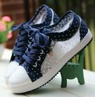 FixedPricewomens comfy floral breathable sneakers lace up canvas casual mesh preppy shoes