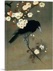 ARTCANVAS Crow and Blossom 1910 Canvas Art Print by Ohara Koson