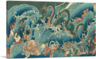 Tamatori-Hime at the Dragon Palace Canvas Art Print by Utagawa Kuniyoshi